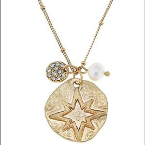 🆕North Star & Crystal Disk Charm Necklace